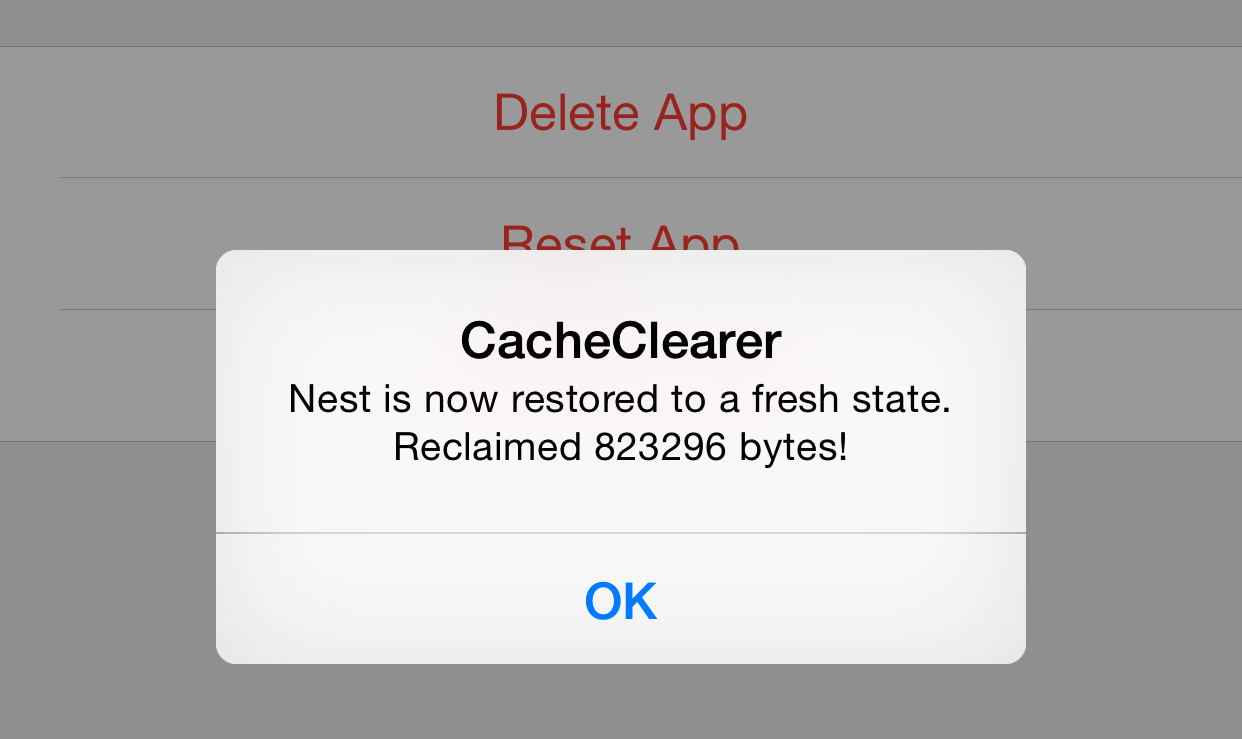 CacheCleaner Reset