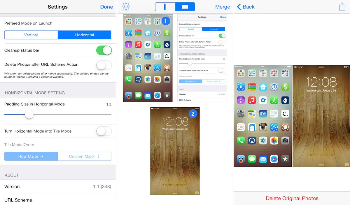 Combine screenshots longscreen