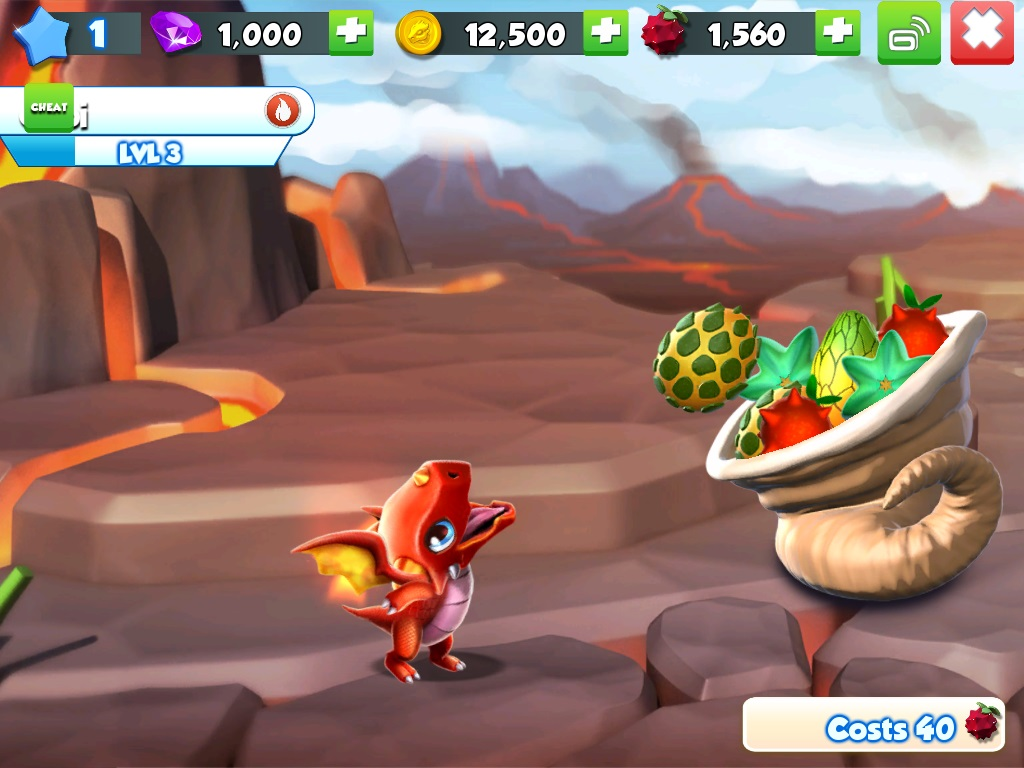 Dragon Mania Legends for iOS iPhone screenshot 001 feeding