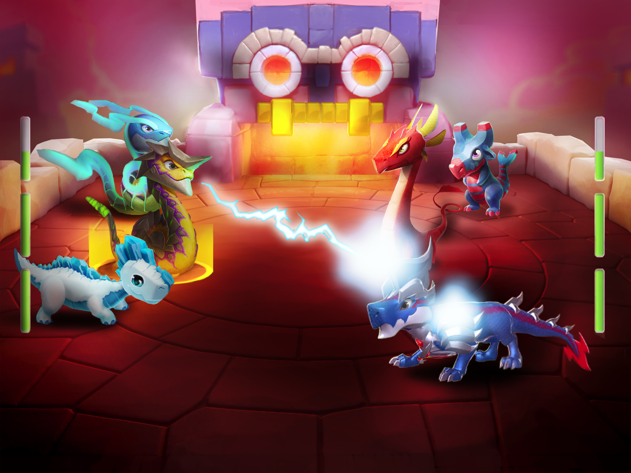 Dragon Mania Legends for iOS iPhone screenshot 001 fighting