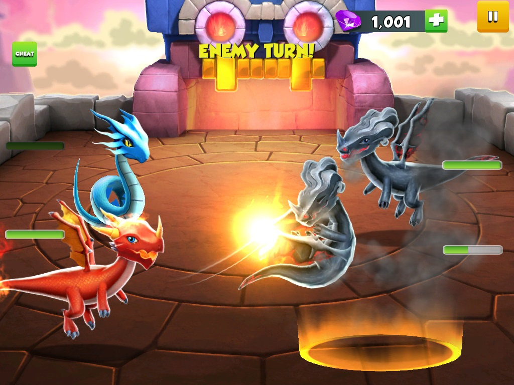 Dragon Mania Legends for iOS iPhone screenshot 005 fighting
