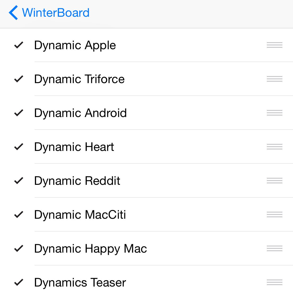 Dynamics WinterBoard