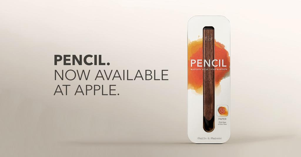 FiftyThree Pencil available at Apple Store