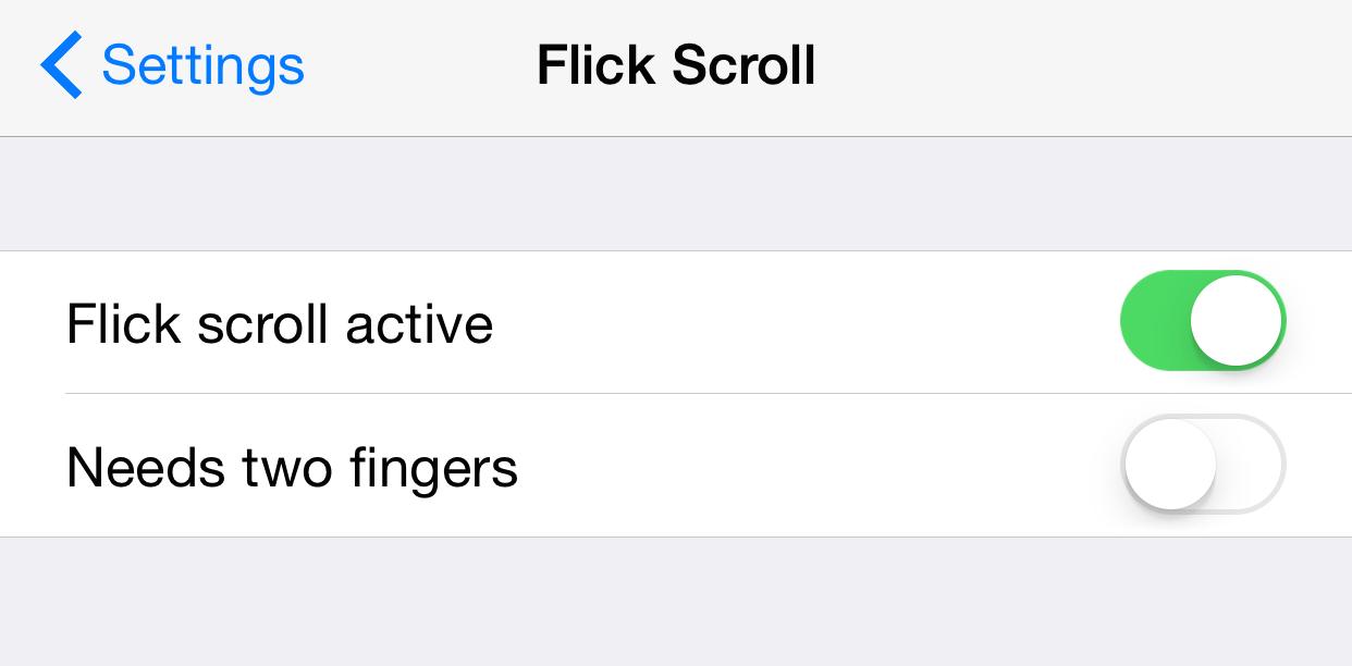 Flick Scroll