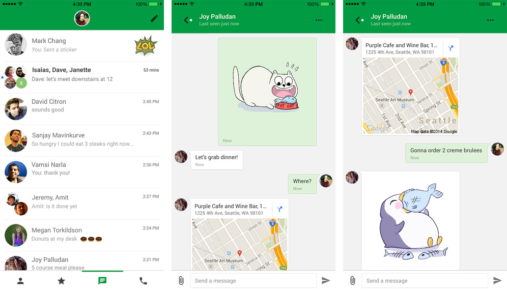 Google Hangouts gains smart location sharing, statuses