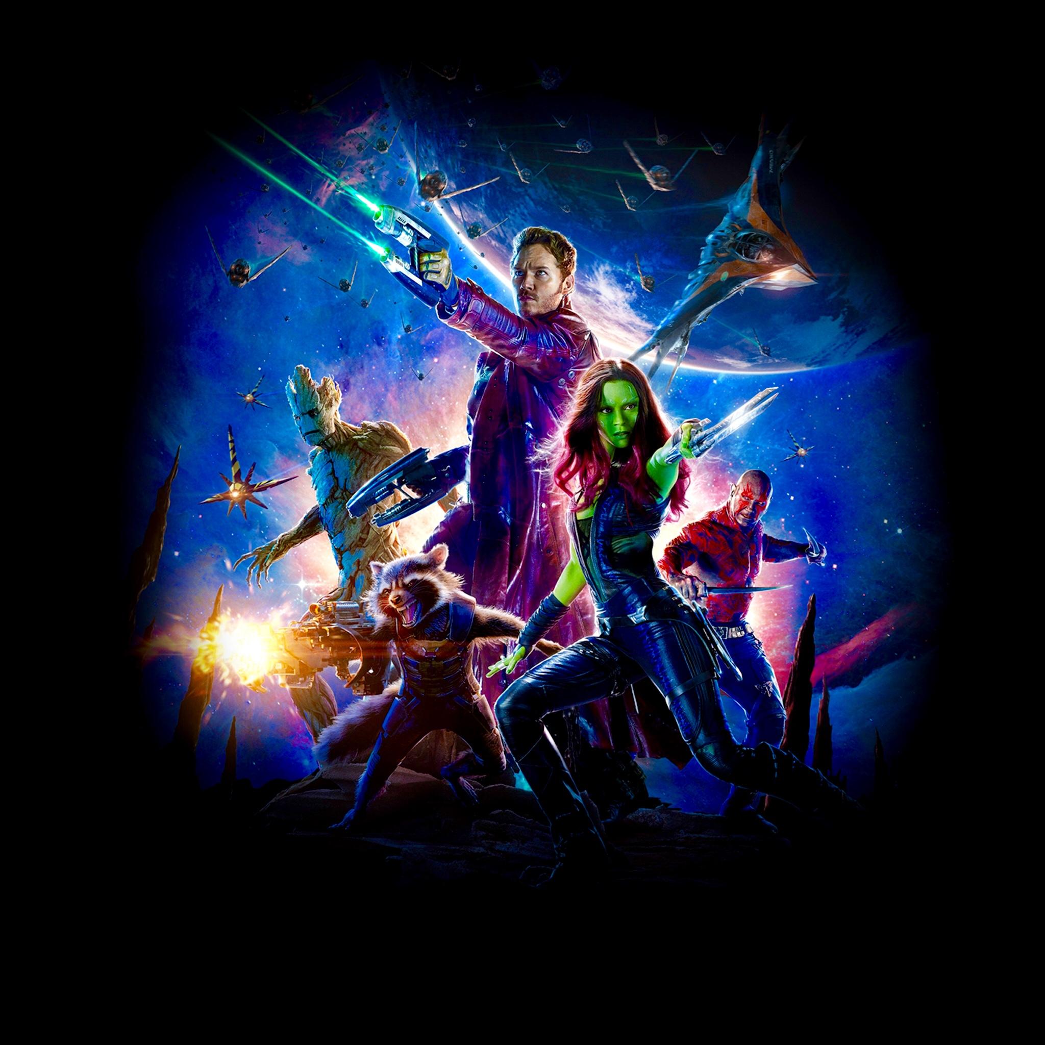 Guardians of the Galaxy Poster no names iPad