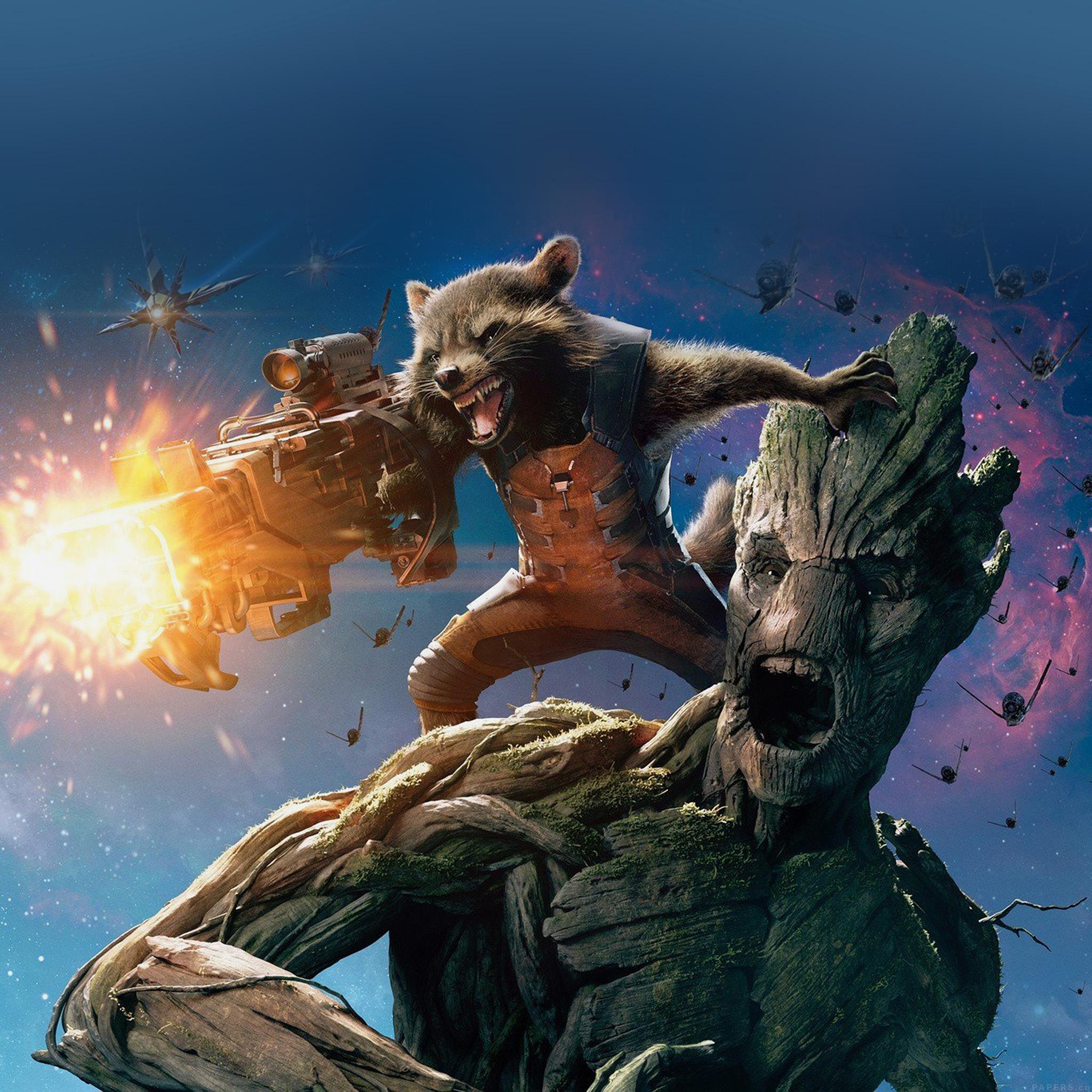 Guardians of the Galaxy Rocket Groot iPad