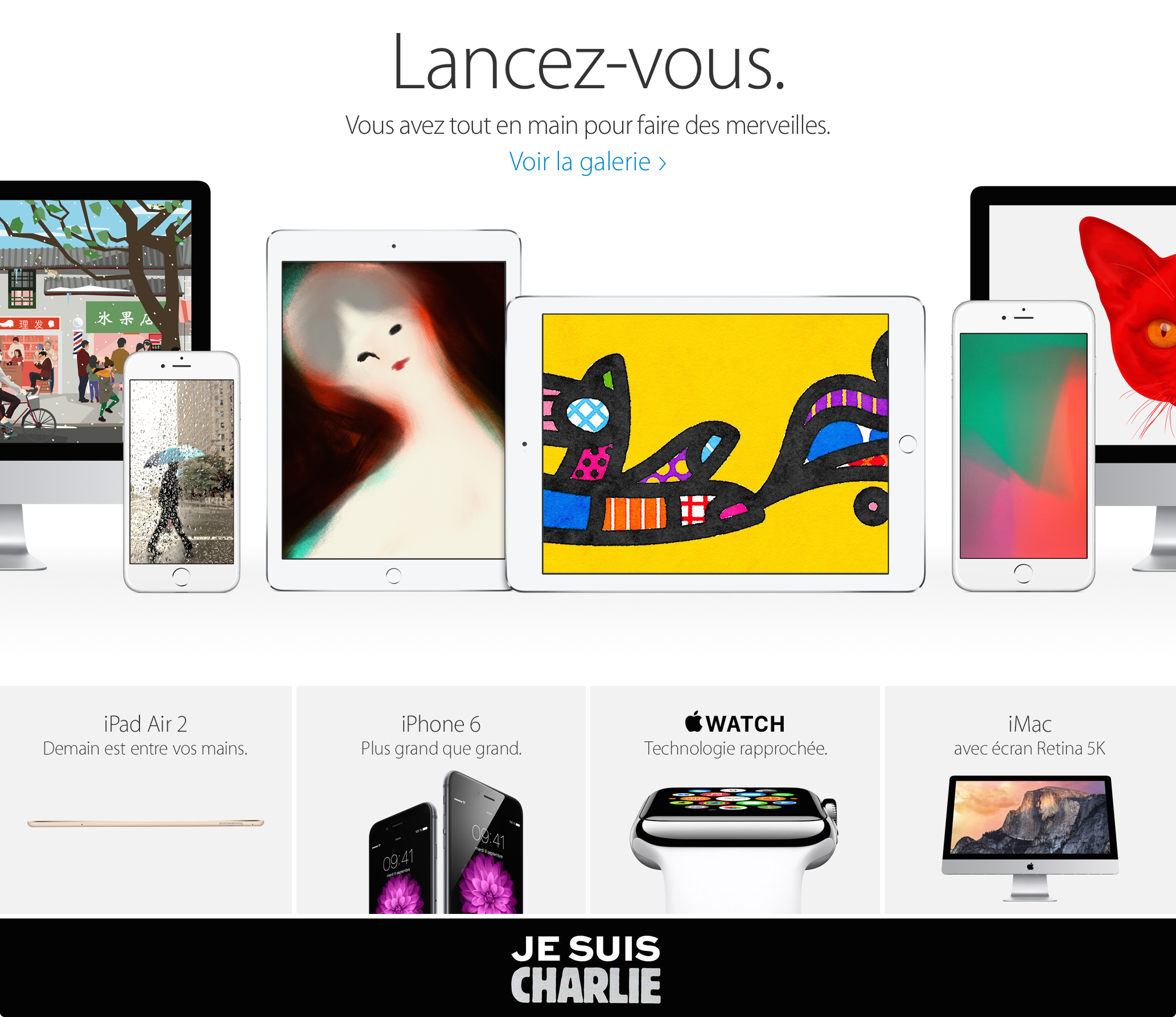 Je Suis Charlie Apple France