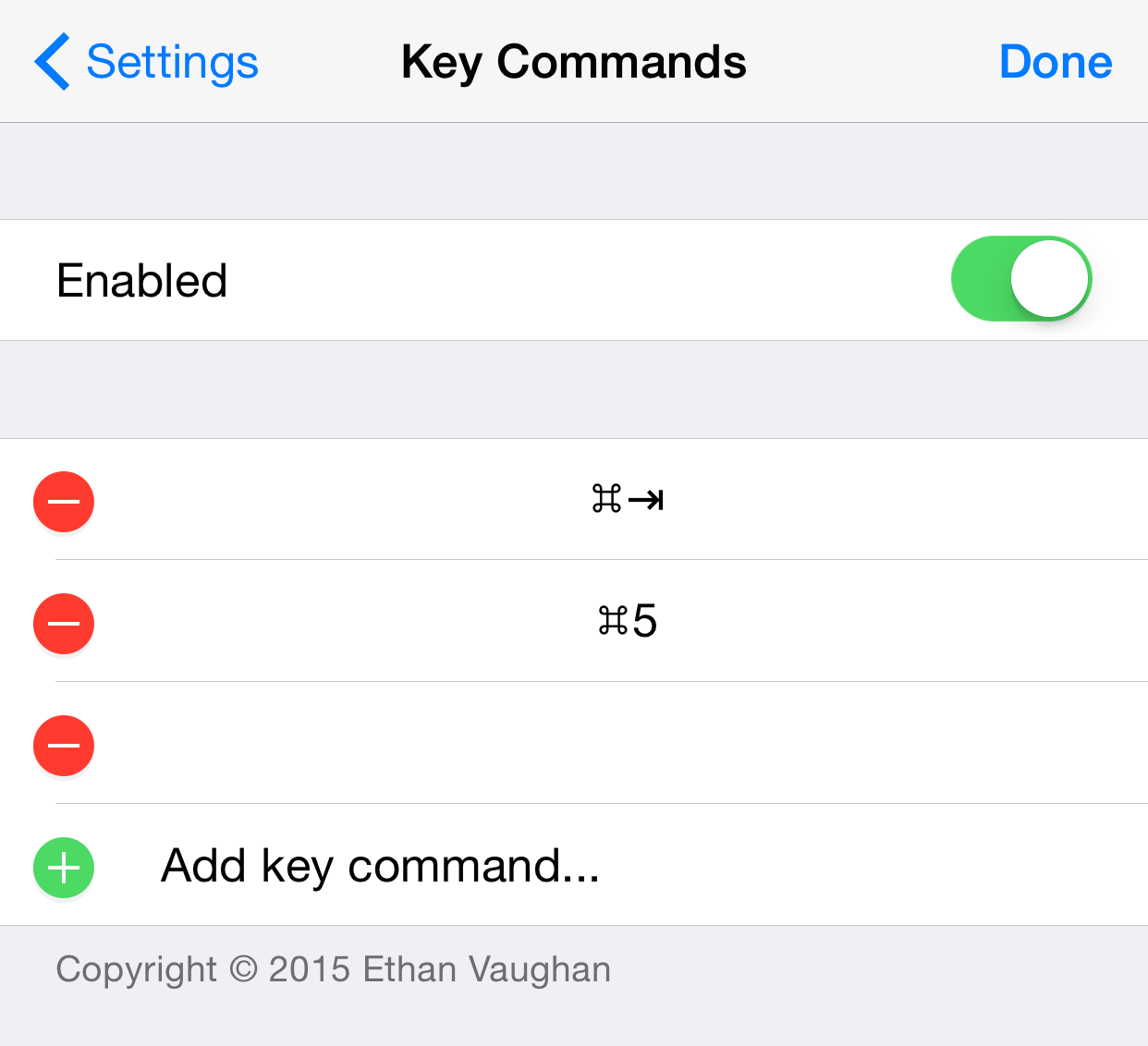 KeyCommands Add