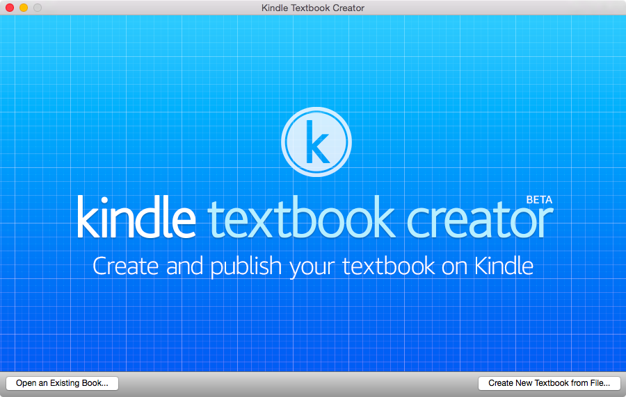 Kindle Textbook Creator for Mac screenshot 001