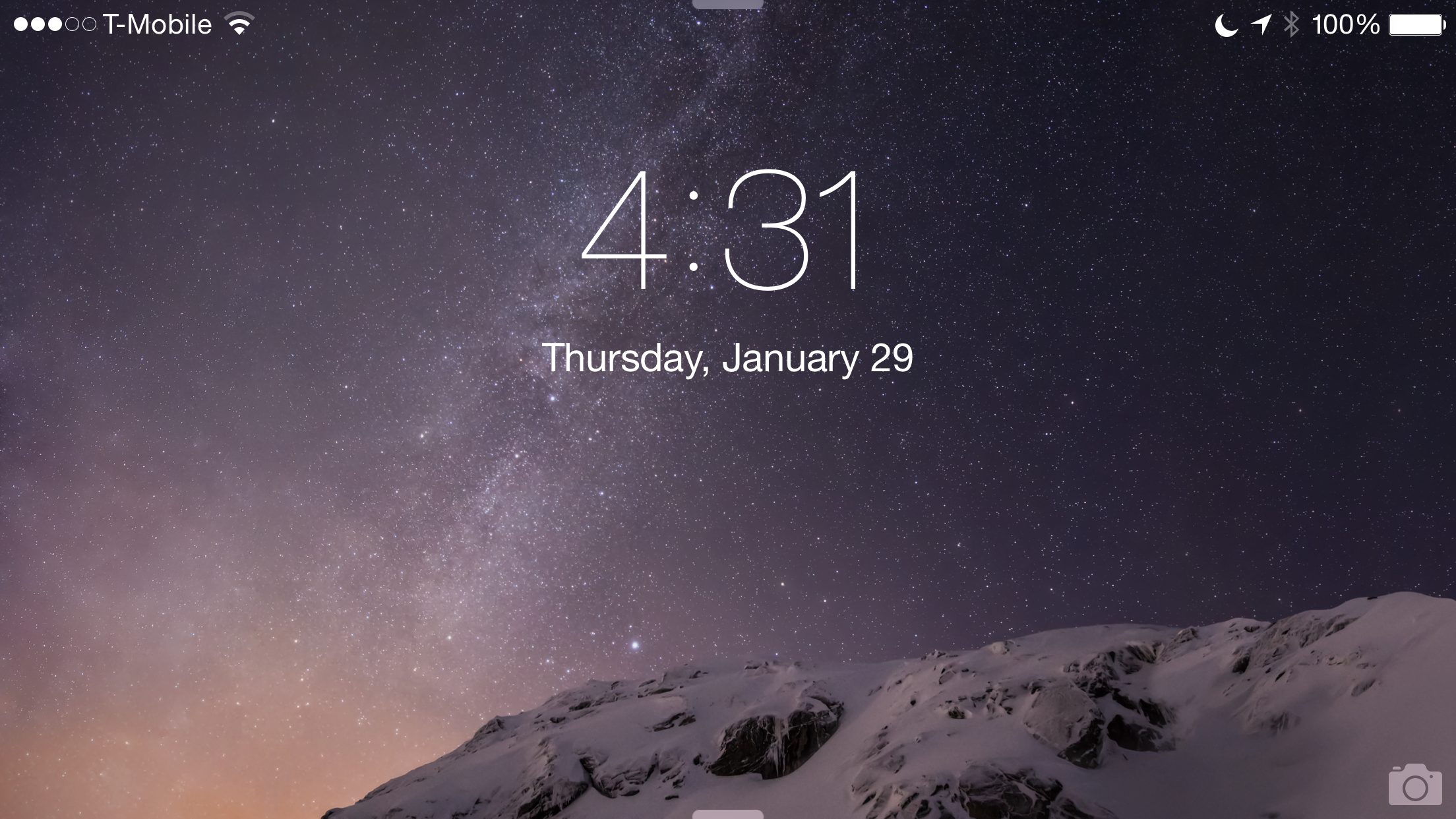 Lock screen Landscape