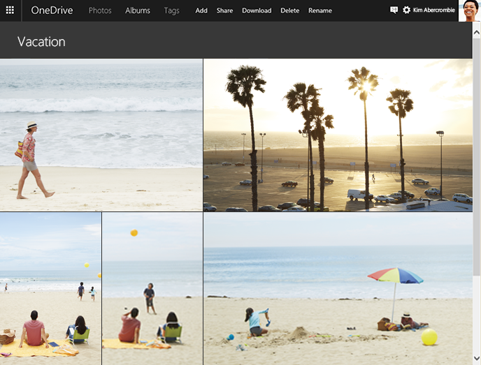 OneDrive Albums web screenshot 002