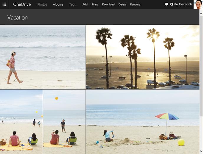 Captura de pantalla web de OneDrive Albums 002