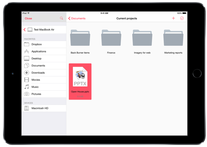 Parallels Access 2.5 for iOS file manager 002