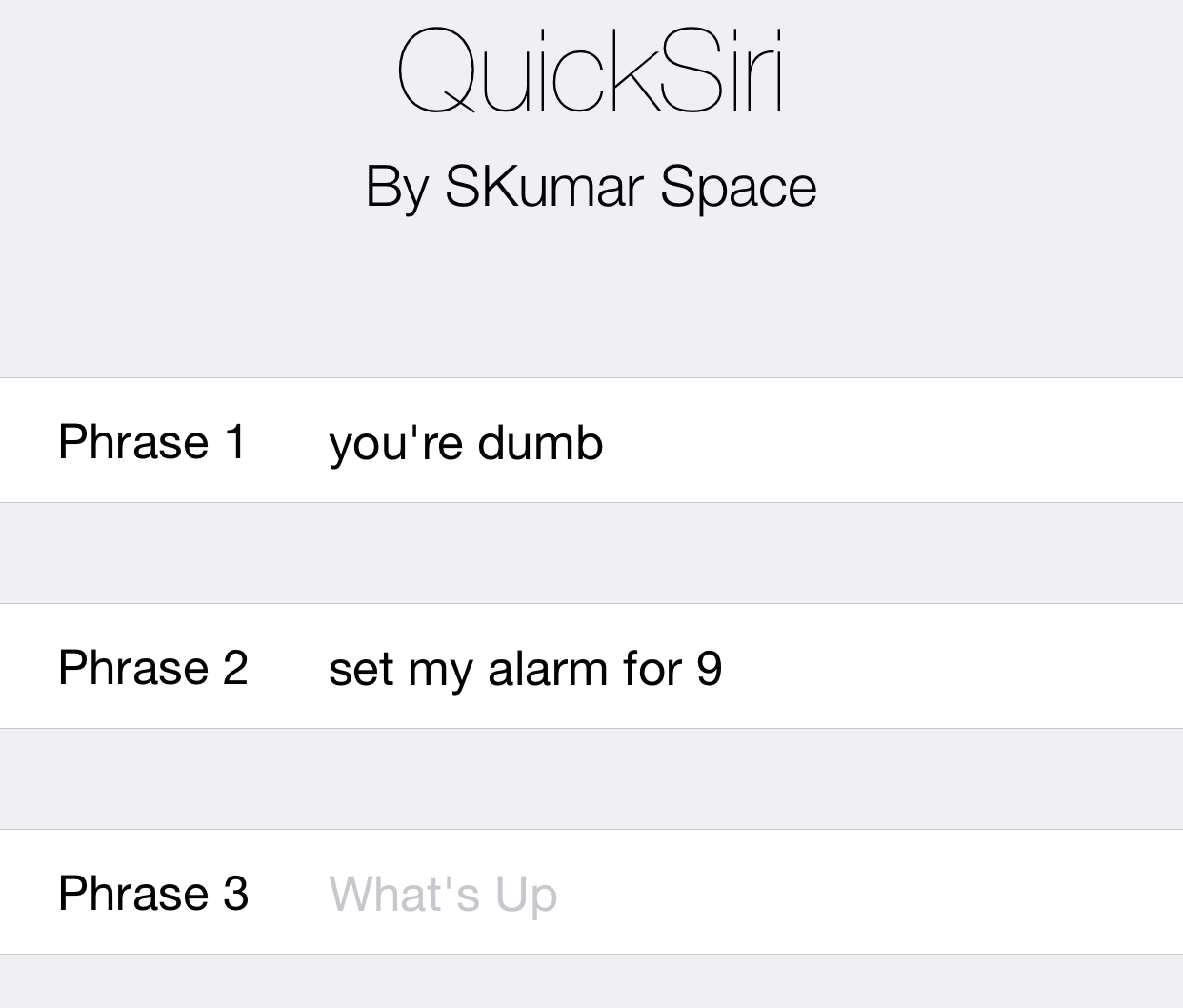 QuickSiri Prefs