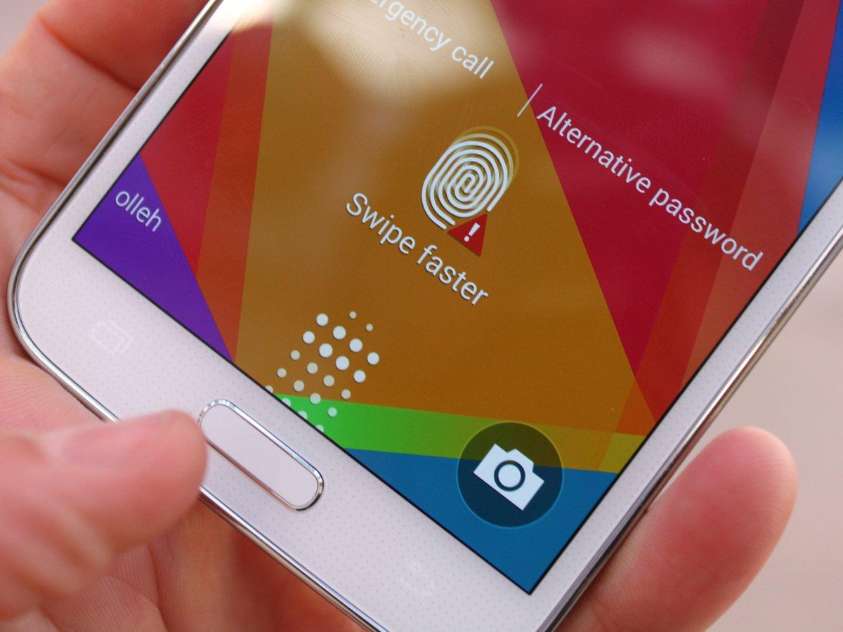 Samsung Galaxy S5 fingerprint sensor 001