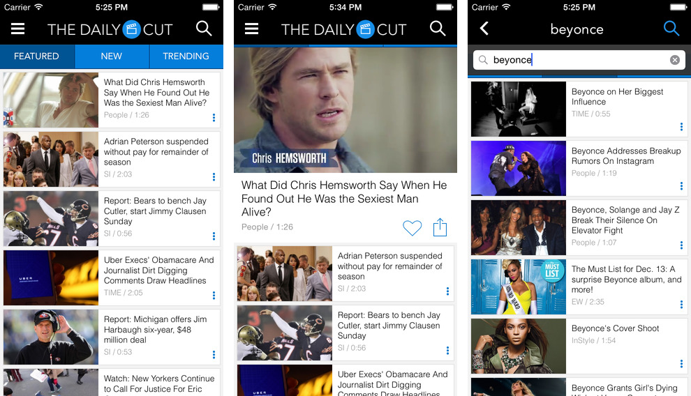 The Daily Cut for ios iPhone screenshot 001