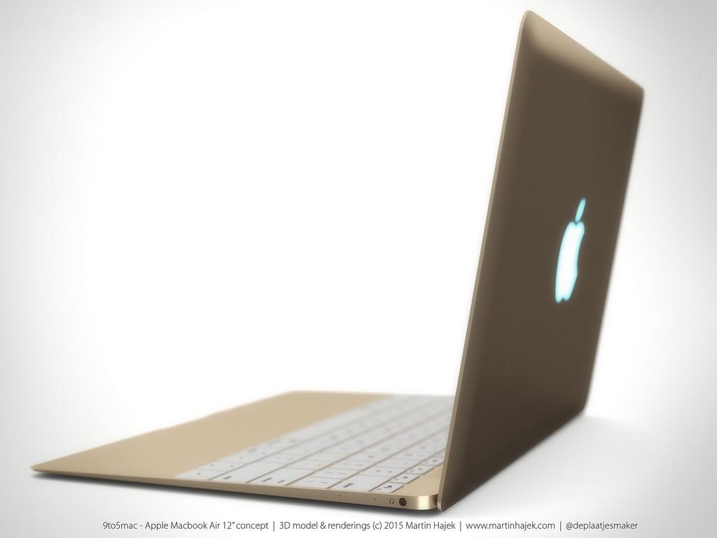 Eye-candy renderings of one-port MacBook Air with laser-cut