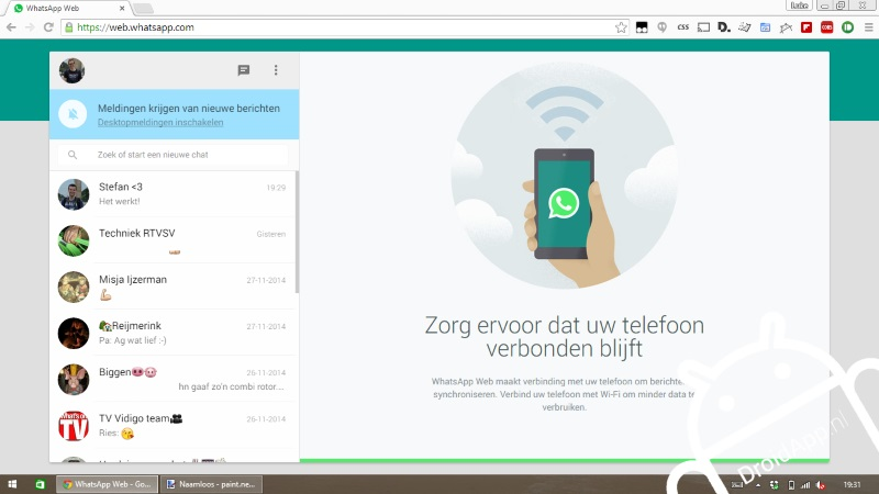 WhatsApp web app screenshot 002