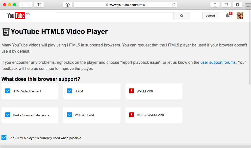 YouTube HTML5 video player web screenshot 002