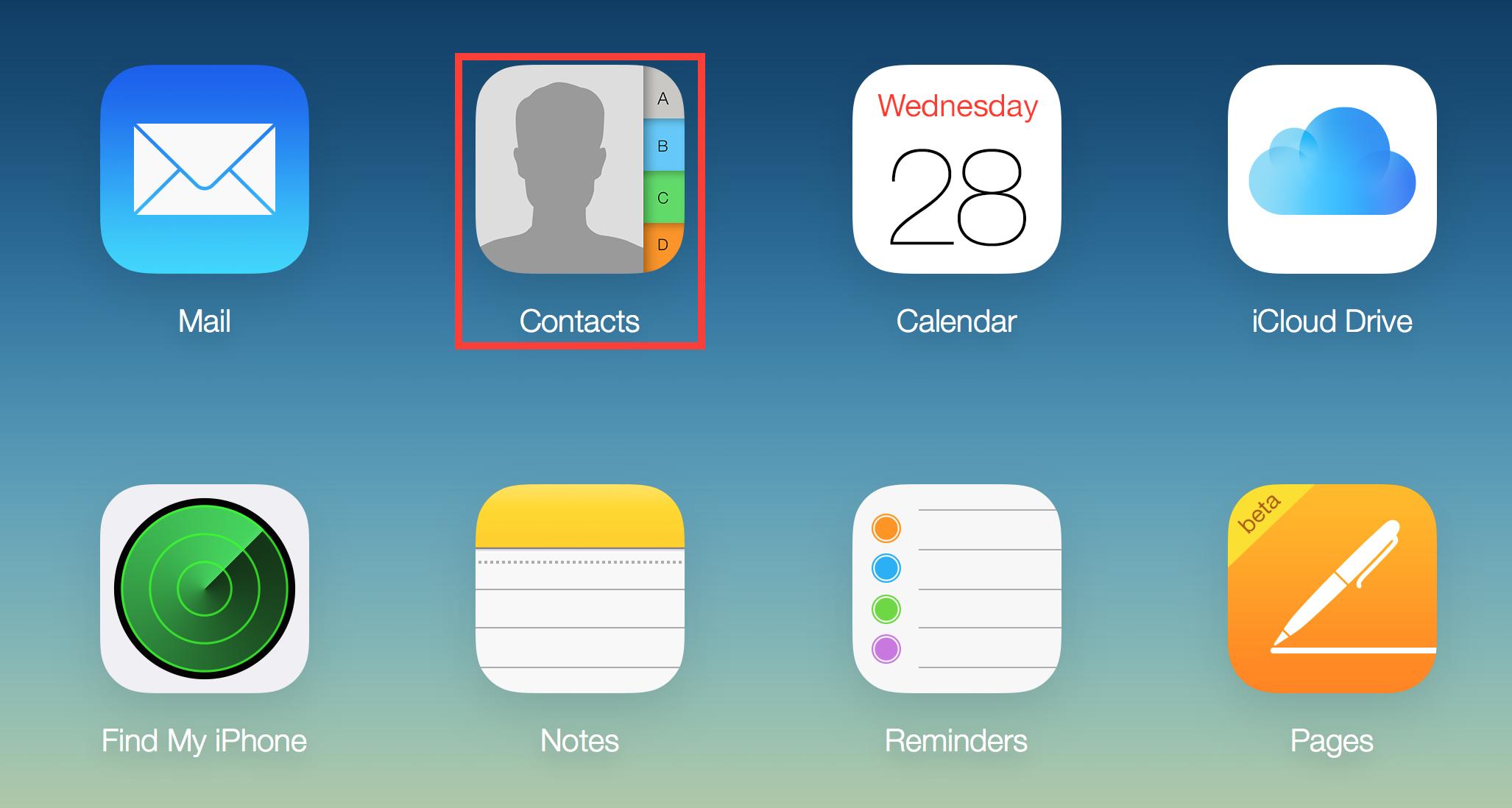 Contactos de iCloud