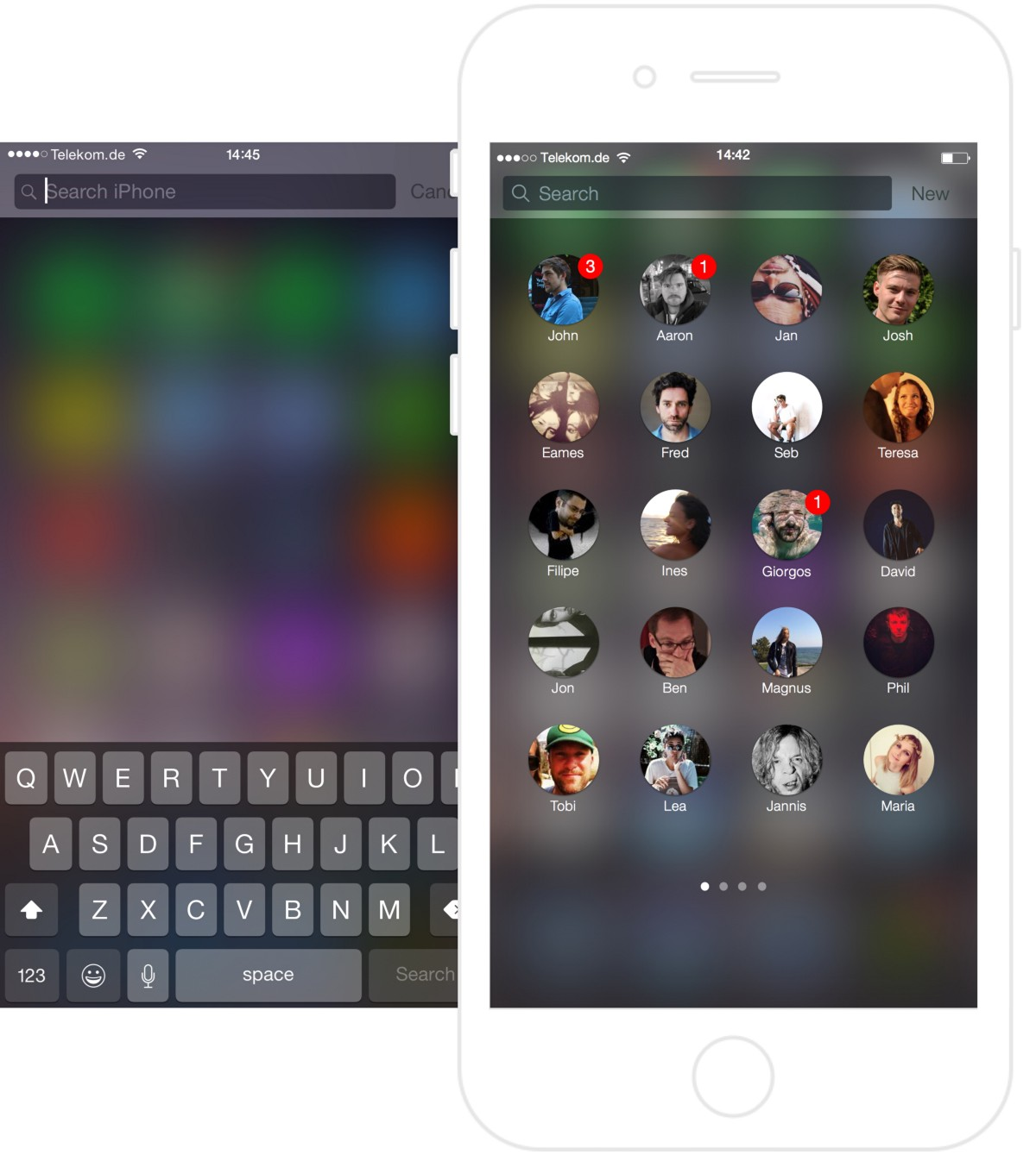 iOS Contacts concept Frank Costa 001