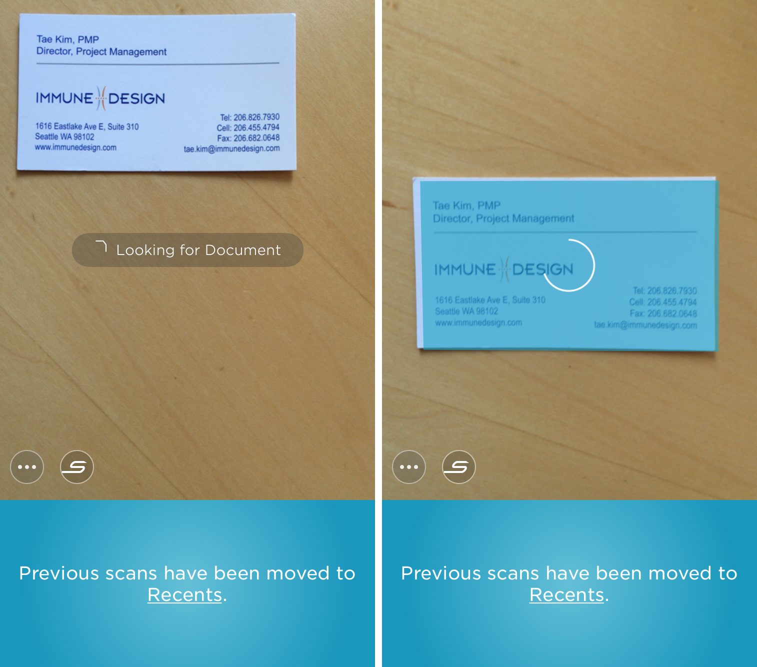 Scan business card