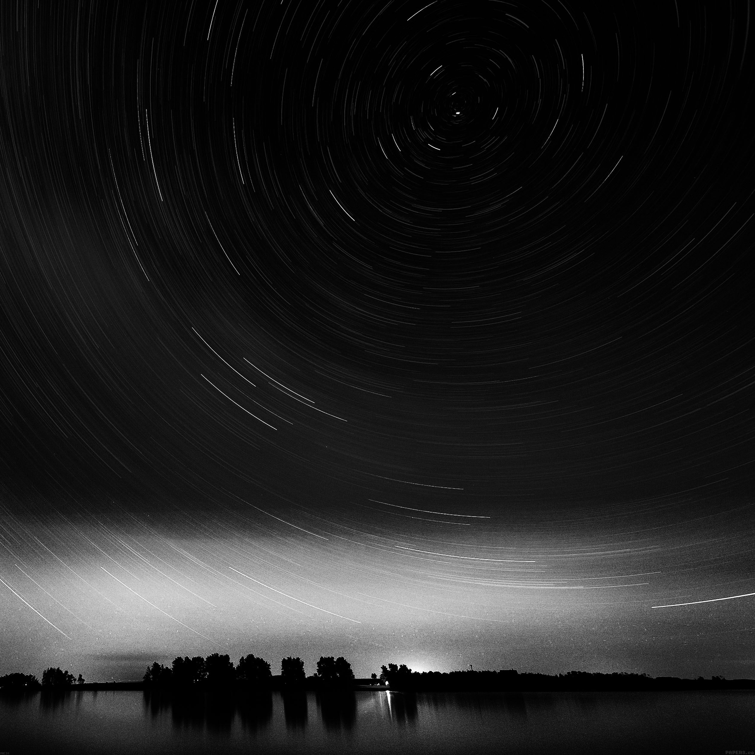 star-gazing-night-bw-9-wallpaper