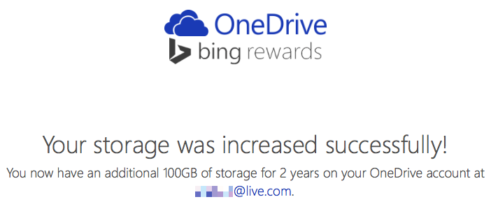 100GB OneDrive offer