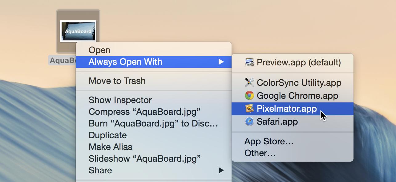 Always Open Mac app with