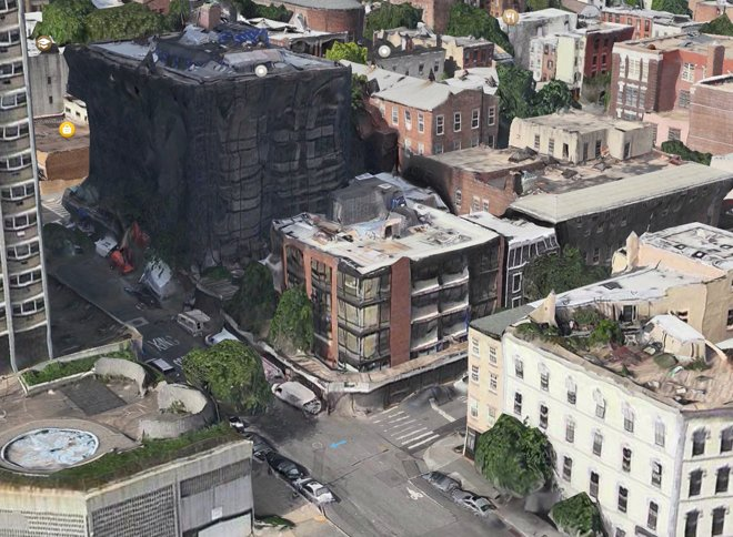 Apple Maps Flyover distortion