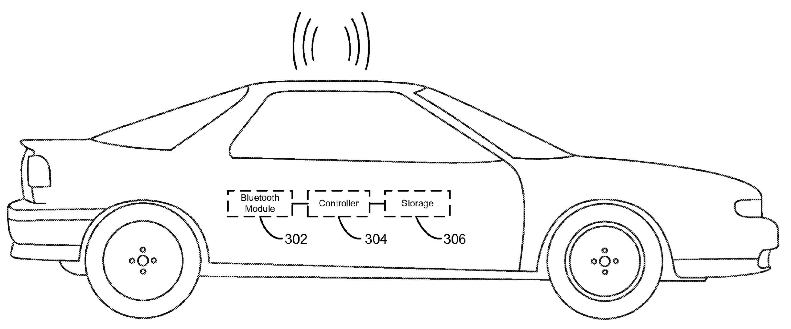 Apple patent Bluetooth car control 001