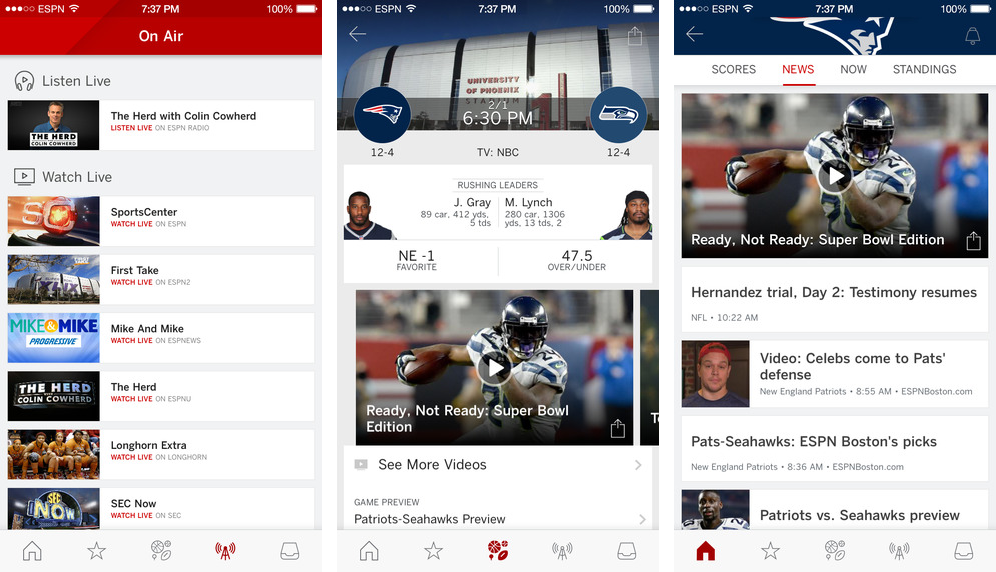 ESPN App 4.2 for iOS iPhone screenshot 002