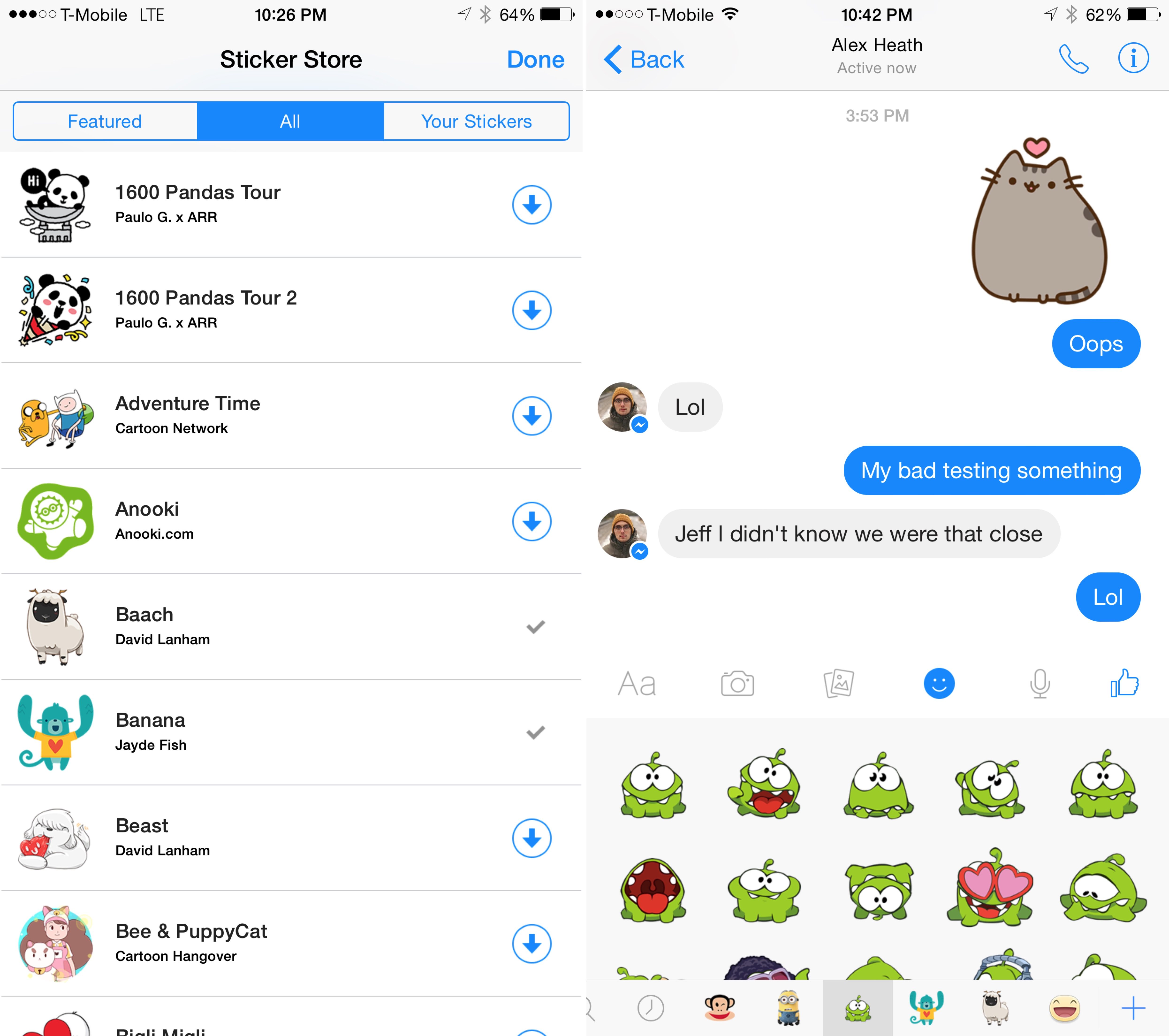 How to use Facebook stickers in iMessage conversations