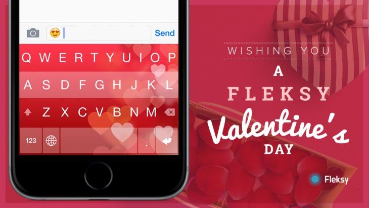 Fleksy Keyboard Valentines Day 2015 promo