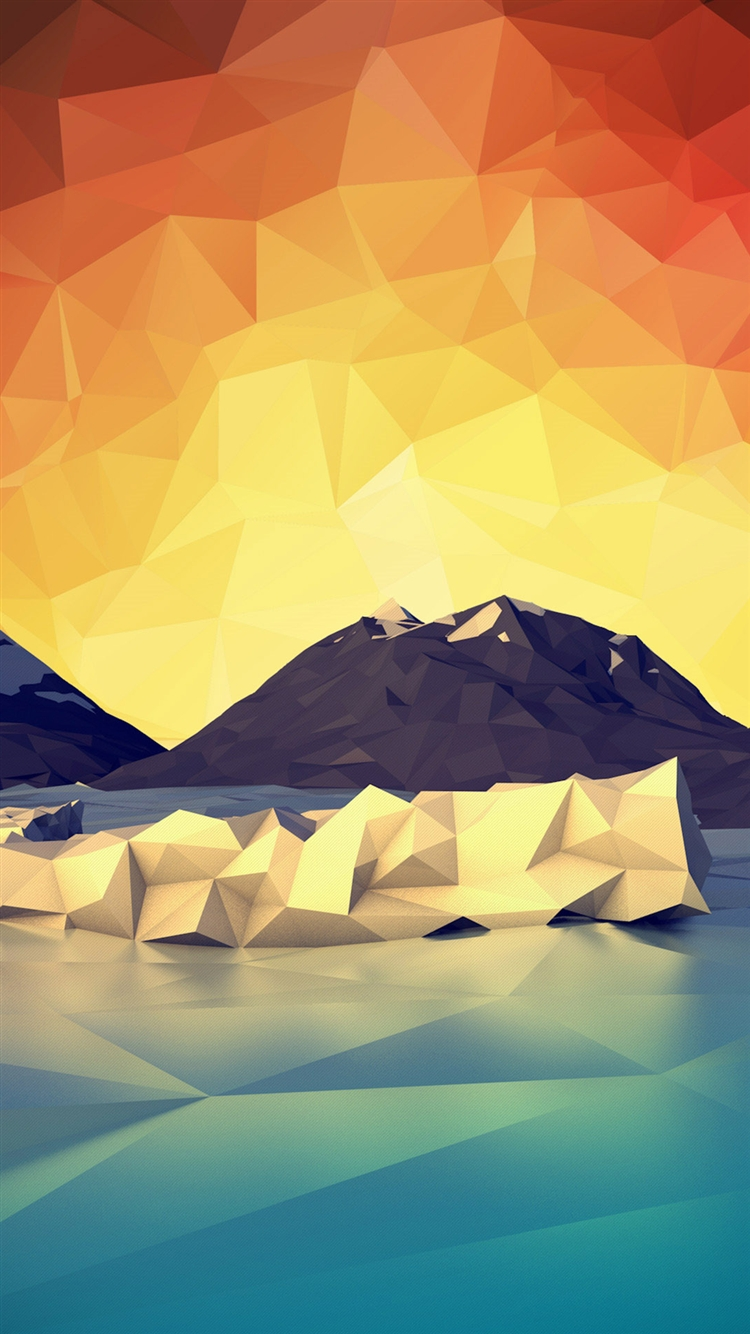 Geometric Iceberg Wallpaper iPhone 6 Plus