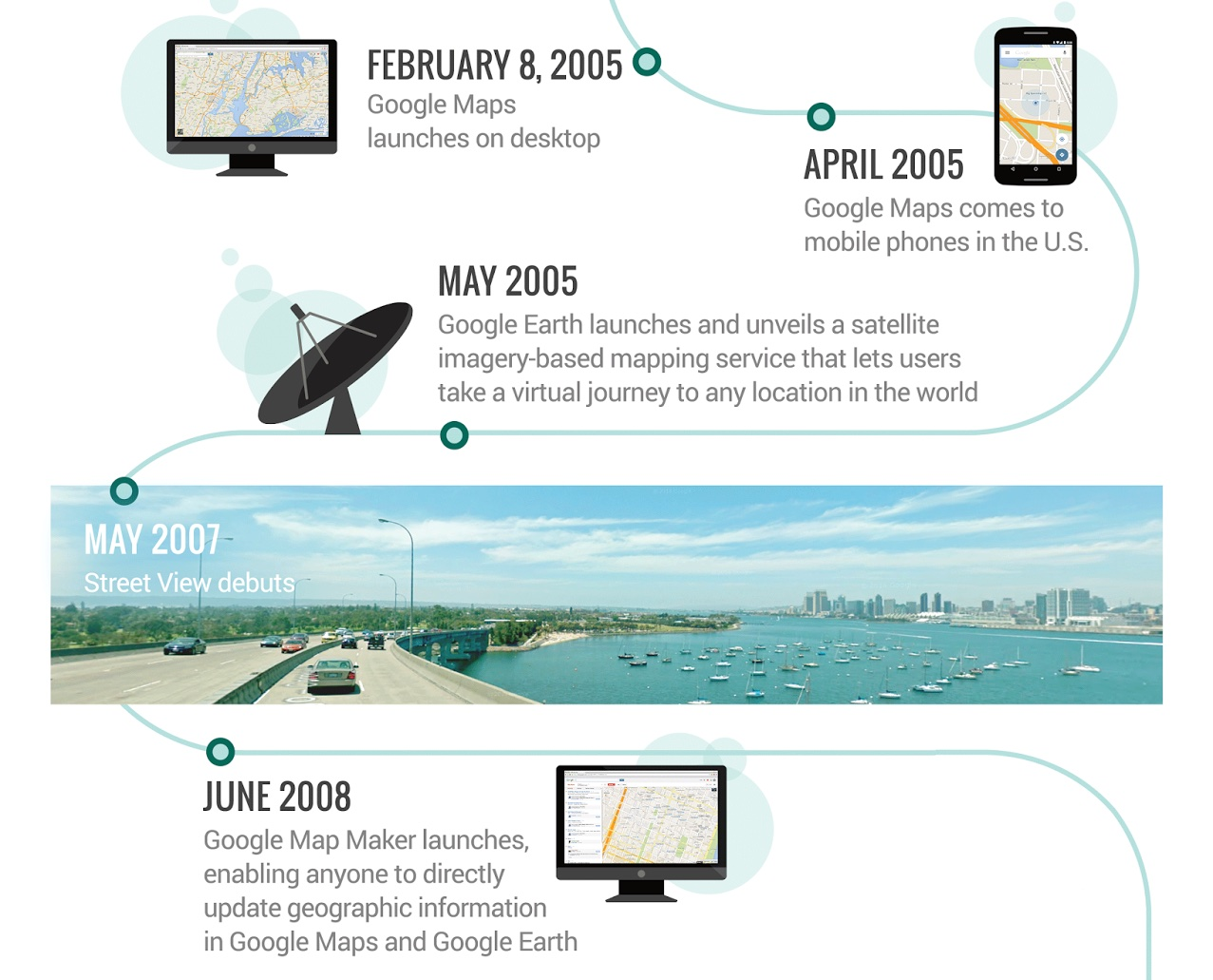 Google Maps turns 10 infographic 001