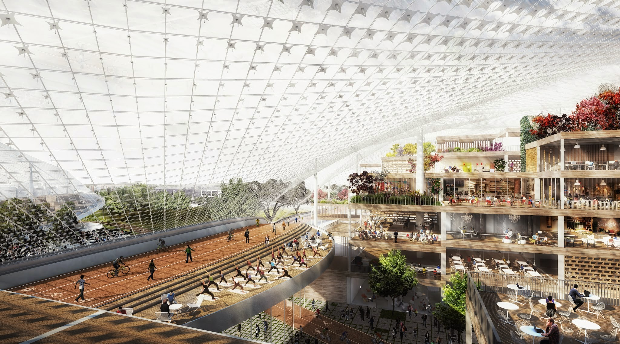 Google North Bayshore Campus proposal rendering 004