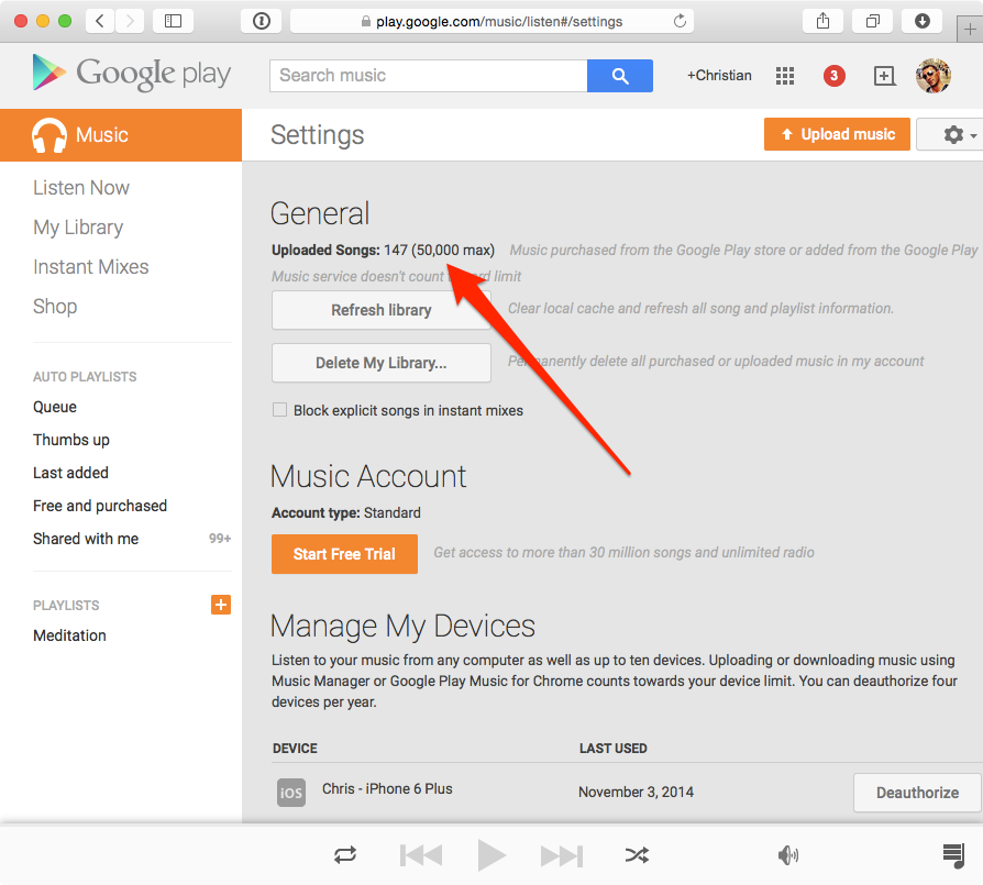 Google Play Music storage upgrade web screenshot 001