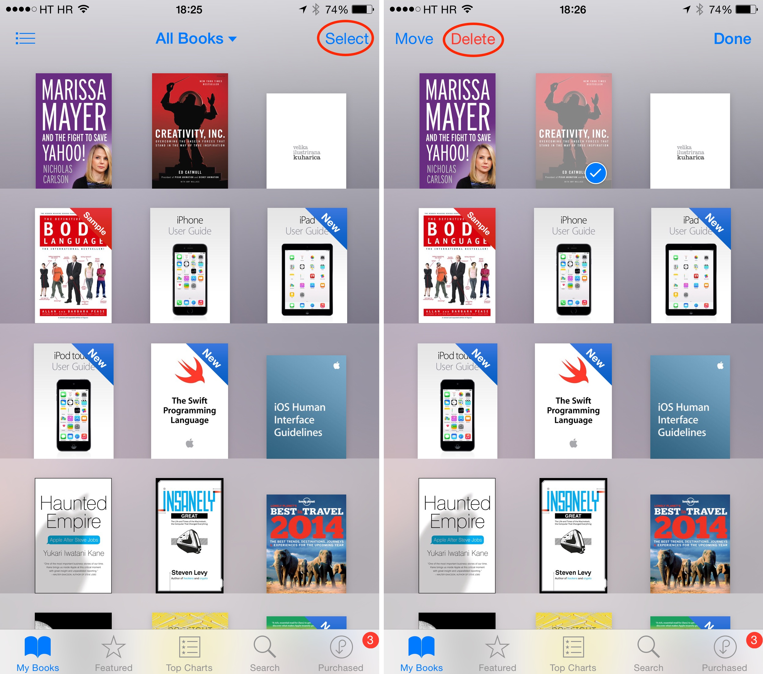 How to delete iBooks Sync Collections disabled iPhone screenshot 001