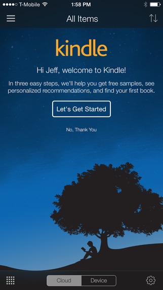 Kindle 4.7 for iOS iPHone screenshot 001