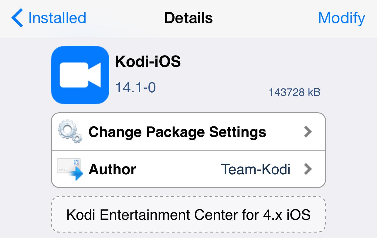 How to install Kodi on a jailbroken iPhone or iPad