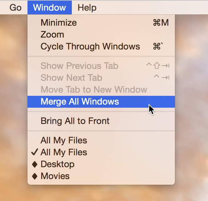 Merge All Windows