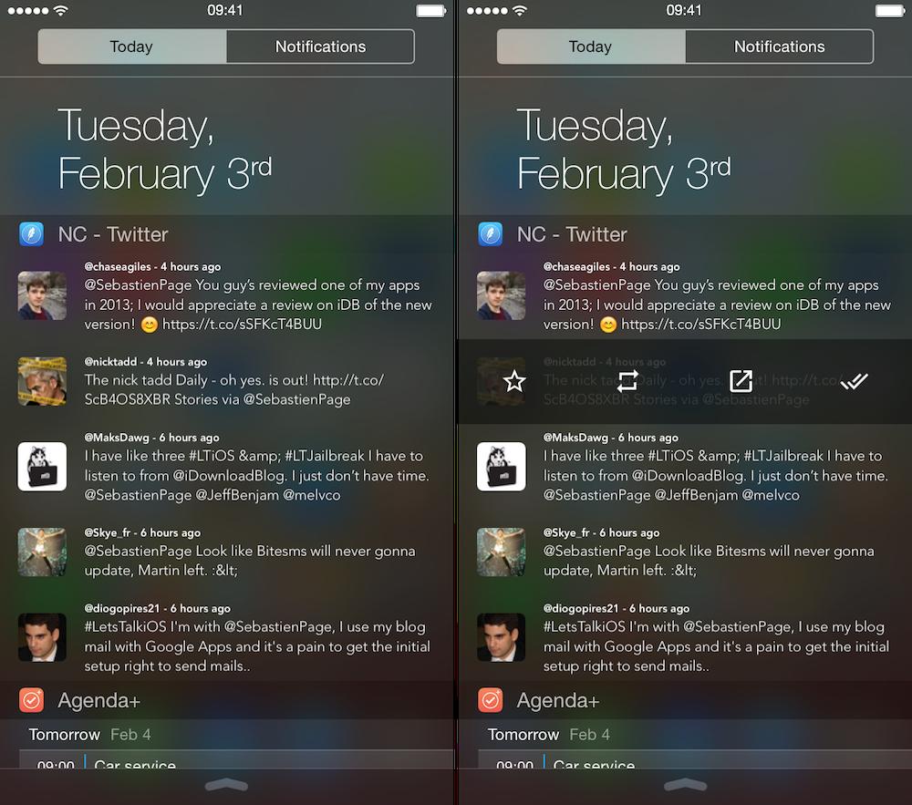 NC Twitter widget