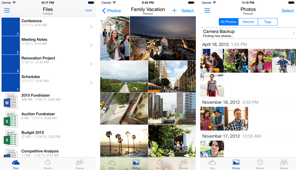 OneDrive 5.0 for iOS iPhone screenshot 001