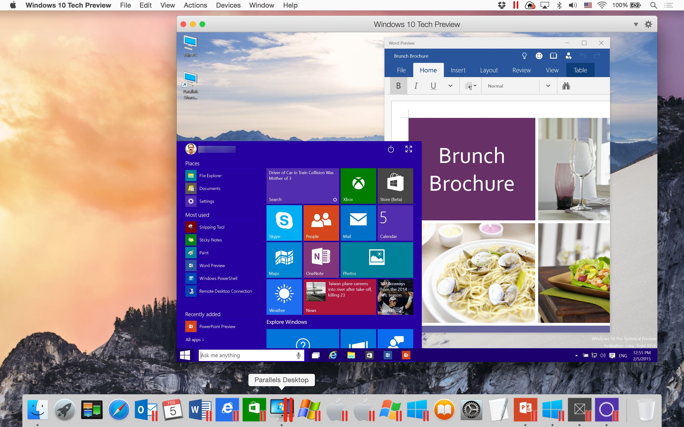parallels desktop log in