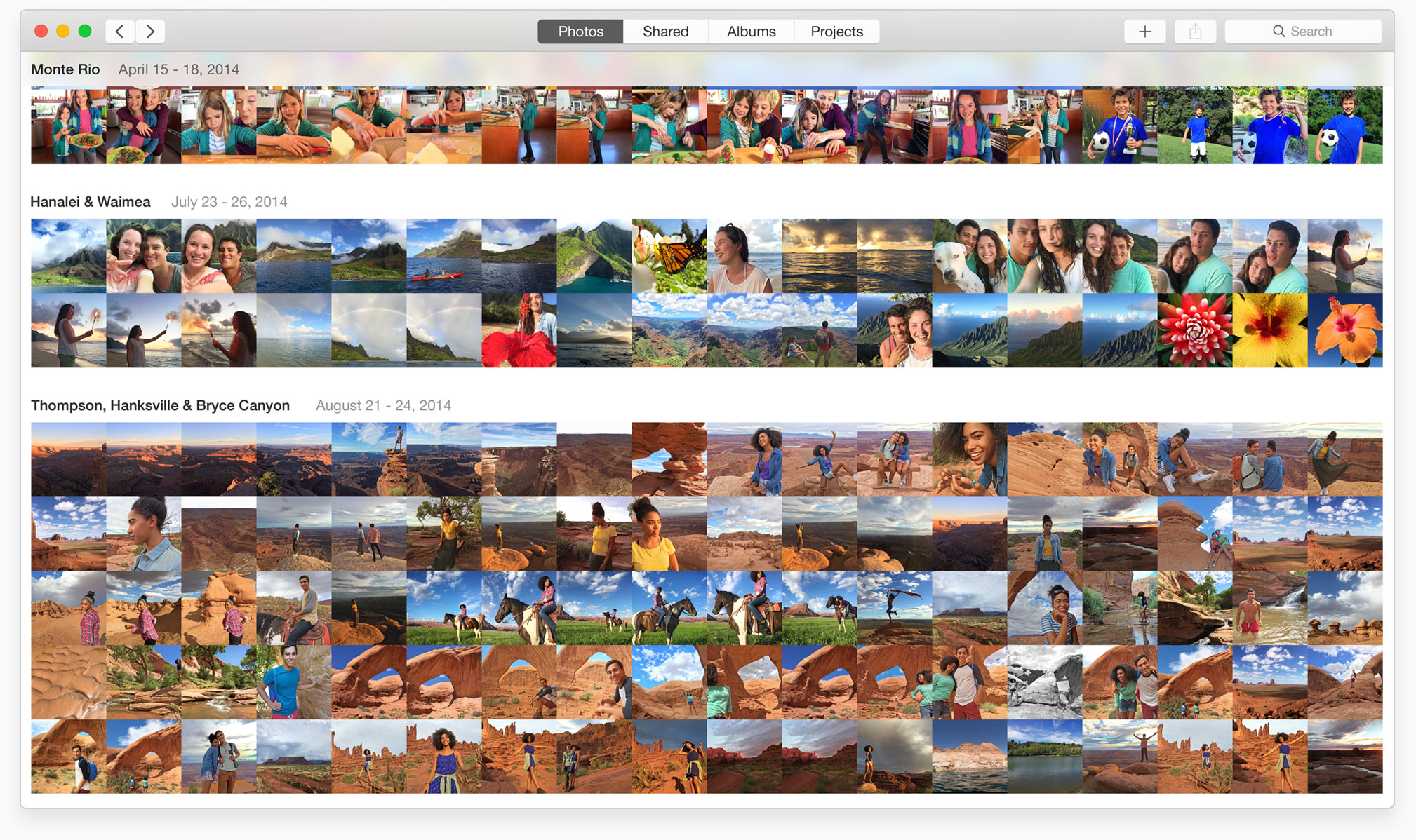 Photos for OS X Collections Mac screenshot 001
