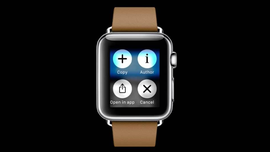 Fijado para el adelanto 001 de Apple Watch