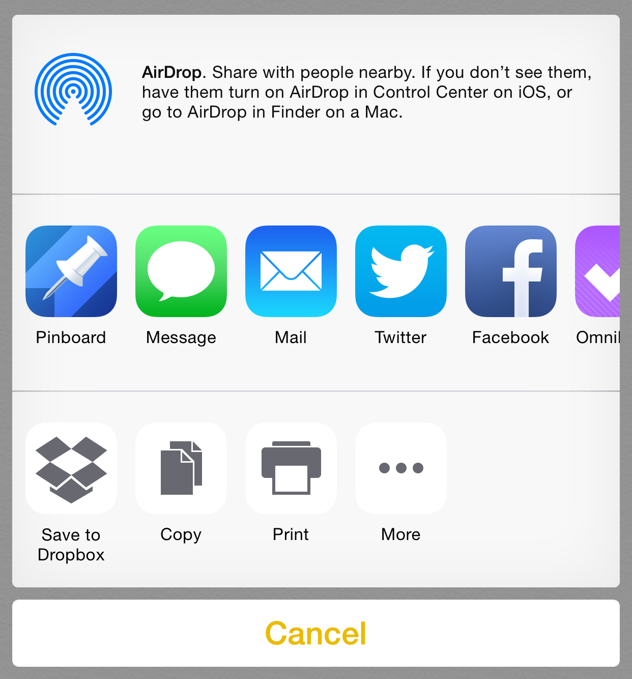 Dropbox for iOS gets a new action extension