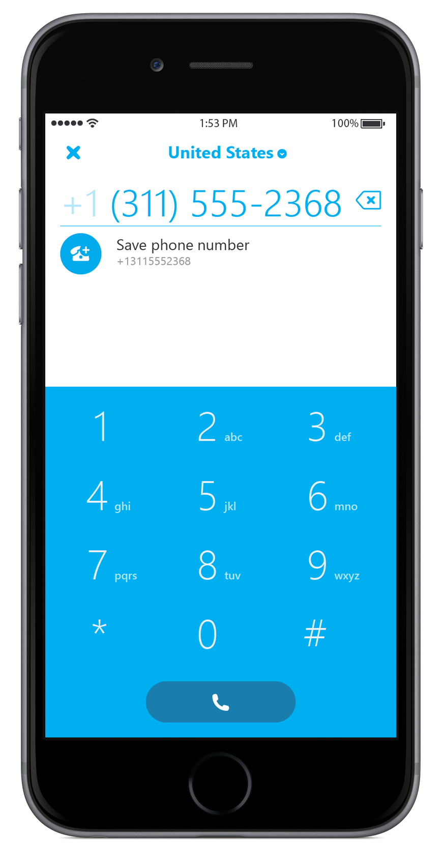 Skype 5.10 for iPhone dialer